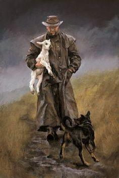 The Good Shepherd Canvas by Julie Greig for Sale - New Zealand Art Prints New Zealand Art, Farm Art, West Art, The Good Shepherd, Principles Of Art, Cowboy Art, Canvas Prints, Art Prints, Detail Art