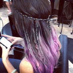 Black to Lavender ombre I'm definitely going to get this done to my hair
