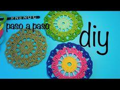Motivo Flor Circular Abanico Crochet Ganchillo - YouTube