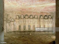 HET HERU - Tomb of Great Royal Queen Meresankh III - Kemitic Matriarchy. 10 Het Heru (House/Vessel of Heru) High Priestess Queens who appointed/married the 3rd and 4th Dynasty kings. Theses statues represent Nimaathapi, Hotepherunebti, Hotepheru (Hetepheres) 1-3, Meresankh 1-3 and Meresankh III, daughters, Shepseskau and an not yet identified daughter.