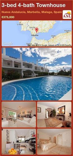 3-bed 4-bath Townhouse in Nueva Andalucía, Marbella, Malaga, Spain ►€375,000 #PropertyForSaleInSpain