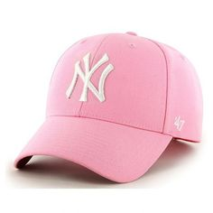 47 Brand New York Yankees MVP Cap Rose ($25) ❤ liked on Polyvore featuring accessories, hats, yankees hat, ny yankees hat, ny yankees cap, rosebud hats and new york yankees hat