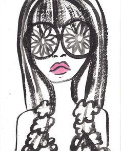 jessica gabrielle | fashion illustration #flowerchild #fashionillustration