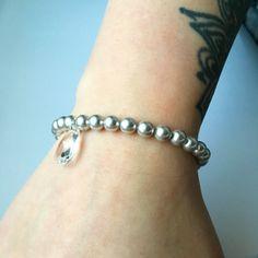 Crystal Droplet Bracelet in light Grey | Lark & Lily Designs