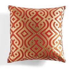 Kashmir Modern Laser Pillow in Mandarin Gold