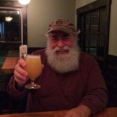 """Bob waited ever so patiently for his cask pour! (Not!!). Cheers, Bob!  @lostnationbrewing @doc_ponds #stowe #vermont #gose"""