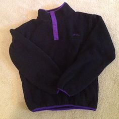 LL.Bean fleece top. L.L. Bean Fleece pullover top. Kids size XL. Has 2 pockets and snap closure in neck area. Very soft, warm fleece! New, never worn. Smoke free home.NWOT L.L. Bean Tops