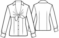 Blouse With Bow - Sewing Pattern #5616 - $2.49 (Enter your measurements for a custom-size pattern!)