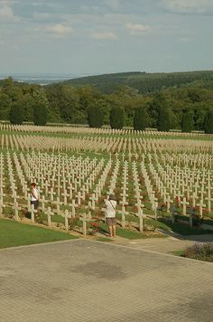 Verdun Cemetery ~ Normandy ~ I wish those in government would be made to reflect upon this photo for 60 minutes.  Bless our soldiers!