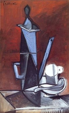 pablo picasso - the blue coffee pot (1944)