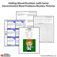 Grade Adding Similar Fractions Word Problems Mystery Pictures Coloring Worksheets 4th Grade Fractions, Adding Fractions, 4th Grade Math Worksheets, Fraction Word Problems, Math Word Problems, Teaching Style, Math Words, Task Cards, Coloring Worksheets