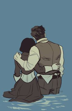 elizabeth and booker dewitt off bioshock infinite. Bioshock Infinite, Bioshock Game, Bioshock Series, Character Poses, Character Design References, Character Drawing, Character Illustration, Video Game Art, Video Games