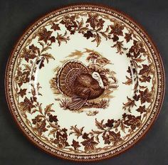 "Brown transferware plate by Wedgewood called ""His Majesty."