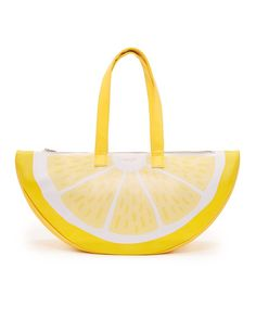 super chill cooler bag - lemon by ban.do - cooler bag - ban. Watermelon Bag, Beach Gear, Reusable Shopping Bags, Cute Purses, Lemon Yellow, Laptop Bag, School Bags, Things To Buy, Jeans