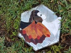 Butterfly gal stepping stone