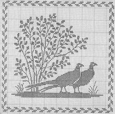Animal Prints Pheasants 4 of 7 Cross Stitch Bird, Cross Stitch Borders, Cross Stitch Animals, Cross Stitch Flowers, Cross Stitch Charts, Cross Stitch Designs, Cross Stitching, Cross Stitch Embroidery, Cross Stitch Patterns