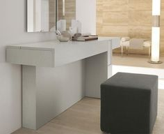 Prestige Modern Dressing Table in Various Lacquered Ash Colours by SMA Mobili Spa - Trendy Products UK LTD