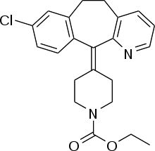 Loratadine (INN) is a second-generation histamine antagonist drug used to treat allergies. Structurally, it is closely related to tricyclic antidepressants, such as imipramine, and is distantly related to the atypical antipsychotic quetiapine. Tricyclic Antidepressant, Cold Or Allergies, Self Medication, Allergic Rhinitis, Urticaria, Watery Eyes, Chemical Structure, Allergy Symptoms, Skin Rash