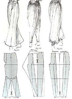 Примеры моделирования брюк разных стилей