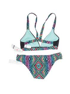 1696929012 Tropical Print Crisscross Back Bikini Set