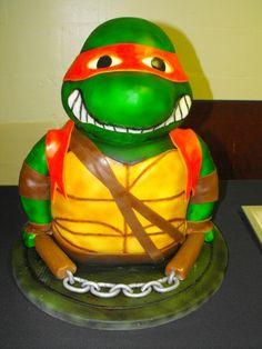 ninja turtle cake. Best birthday cake ideas and birthday cake recipes. Best birthday cakes on Pinterest! #47straight #cakes