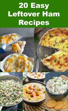 20 Easy Leftover Ham Recipes - these easy recipes using cooked ham are perfect for dinner, lunch, breakfast or brunch. From main dishes to sides, soups and salads, these are great for using up leftover Christmas or Easter ham! from Meatloaf and Melodrama Quick Lunch Recipes, Easy Sandwich Recipes, Easy Brunch Recipes, Healthy Brunch, Breakfast Recipes, Easy Recipes, Brunch Food, Sandwich Ideas, Brunch Ideas