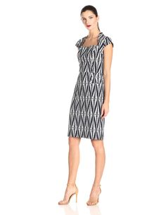 Printed Sheath Dress by Adrianna Papell