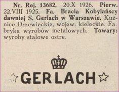 060de7d52d534 Znak towarowy Fabryki Bracia Kobylańscy dawniej S. Gerlach w Warszawie