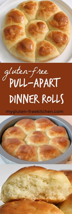 Gluten-free Pull-Apart Dinner Rolls recipe that& perfect for holiday dinner. , Gluten-free Pull-Apart Dinner Rolls recipe that& perfect for holiday dinners like Thanksgiving, Christmas and Easter. We enjoy these for weeknight meals too! Patisserie Sans Gluten, Dessert Sans Gluten, Dairy Free Options, Dairy Free Recipes, Keto Recipes, Healthy Recipes, Cooking Recipes, Healthy Meals, Paleo Ideas