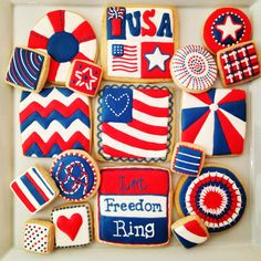 gallery of state themed cookies | 4th of July! | Cookie Connection