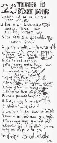 20 Things to Start Doing by damitroger.blogspot.fr: Tips for a Healthy Life! #Healthy_Life