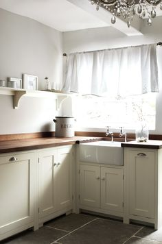Farmhouse kitchen fits the rural area.