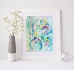 Abstract watercolor original painting on paper
