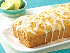 Vegan pound cake with lime glaze! Might have to try this! @SueAnn Murray @Ashley Karschner