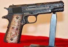 Love engraved guns