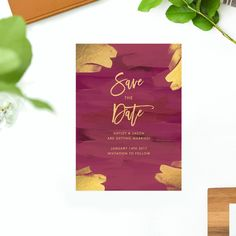 ♥ Vintage Plum and Gold Wedding Invitations! Featuring a stunning painted design with wine and gold. {Vintage Wedding Invitations Plum and Gold Wedding Invite Modern Autumn Fall Yellow Painted Art Brush Wine Maroon Script Font Simple Elegant }  ♥ Dimensions: A5 size (210mm x 148mm) ♥ Pricing includes: Printing, Envelopes and Up to 3 Free Revisions of your Designs. Once your order has been placed, we will create a personalized and digital Proof of your designs for approval before printing…