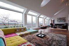 Umbau einer Dachgeschosswohnung in ein Penthouse inkl. Fitness und Wellnessbereich in 1040 Wien.