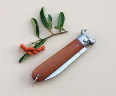 Vintage 1970s Italian pocket Knife / wood hunting by Skomoroki