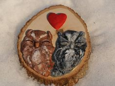 Owl #owl #heart #wooden #wood #art