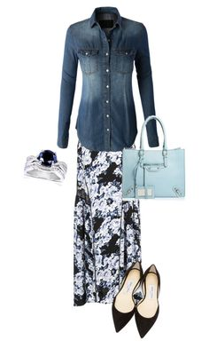Modest 333 by burlsgurl on Polyvore featuring polyvore, fashion, style, LE3NO, MINKPINK, Jimmy Choo and Allurez
