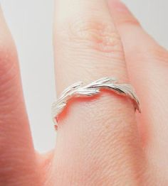 Silver Grass Seed Ring.