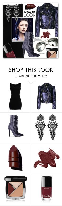 """""""Power look"""" by nicole-christie-mennen ❤ liked on Polyvore featuring Dsquared2, Diesel, Public Desire, sweet deluxe, Anastasia Beverly Hills, Chanel and Barneys New York"""