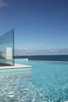 ocean beyond infinity edge pool.. #pools #exterior #design