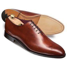 Brown Arthur calf wholecut shoes - $389.00 retail 1/30/15 at http://www.ctshirts.com