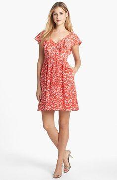 Jenny Yoo 'Gigi' Print Silk Fit & Flare Dress