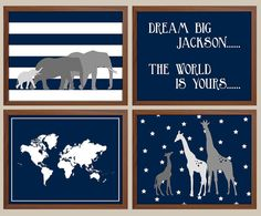This baby boy Nursery art print set is contemporary in style & would be the perfect finishing touch to your nursery or playroom decor.    ★ PRINTS