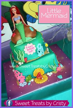 Little Mermaid Cake-Maddie would love this Mimi