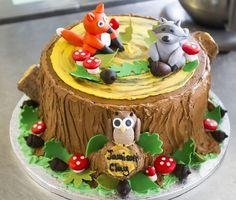 Woodland Creatures Birthday Cake cakepins.com