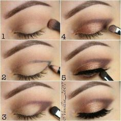 Eye Makeup Steps, Simple Eye Makeup, Natural Makeup, Natural Beauty, Smokey Eye Makeup Tutorial, Eye Tutorial, Simple Smokey Eye, Simple Eyeshadow Looks, Simple Eyeshadow Tutorial