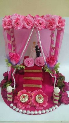Wedding Night Room Decorations, Engagement Decorations, Indian Wedding Decorations, Handmade Decorations, Wedding Carriage, Wedding Doll, Wedding Ring Box, Engagement Gift Baskets, Engagement Ring Platter